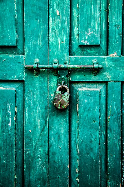 File:Green Lock and Door.jpg