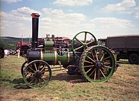 Green traction engine, Sussex country fair.jpg