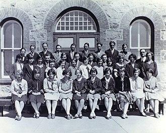 Grenfell, Saskatchewan - Grenfell High School circa 1925.