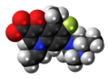 Grepafloxacin zwitterion spacefill.png