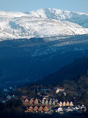 Arna, Norway - Gullfjellet (987 m), the highest mountain in Bergen, is located in Arna