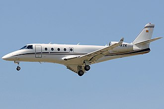 Gulfstream G100 - A G150 inflight, gear and flaps extended