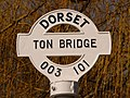 Gussage All Saints, detail of Ton Bridge finger-post - geograph.org.uk - 1741339.jpg