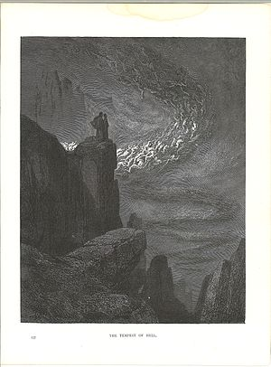 Gustove Dore, The Divine Comedy, Inferno, plate 14, The Tempest of Hell.jpg