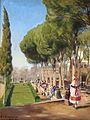 H. A. Brendekilde - Sommerdag i Villa Borghese i Rom (1922).jpg