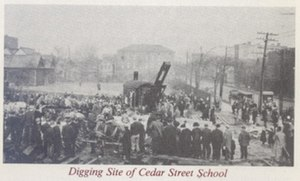 Hutchinson Central Technical High School - Technical High School Corner Stone laying and earth breaking c. 1912