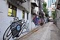 HK 上環 Sheung Wan 太平山街 Tai Ping Shan Street 水巷 Water Lane back Graffit wall painting photo opportunity April 2018 IX2 01.jpg