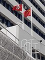 HK 荃灣 Tsuen Wan 荃景圍 Tsuen King Circuit 荃灣警署 Tsuen Wan Police Station flagpoles January 2021 SS2 11.jpg