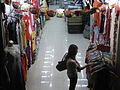 HK Cheung Sha Wan Road 長沙灣道 night clothing shop interior visitor Oct-2010.JPG