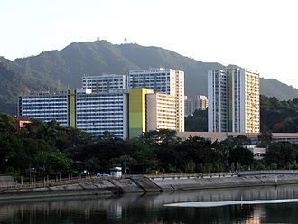 Beacon Hill, Hong Kong - Chun Shek Estate with Beacon Hill located in the background.