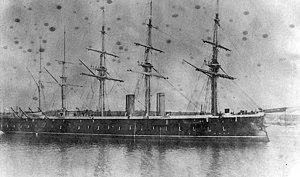 Prince Louis of Battenberg - HMS Agincourt, c. 1878