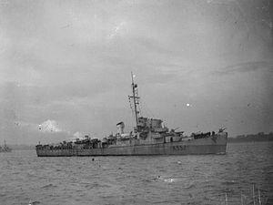 HMS Ekins 1944 IWM A 26397