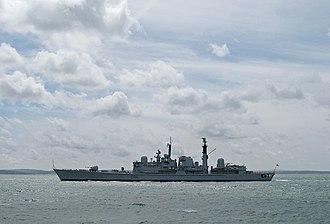 HMS Gloucester (D96) - Image: HMS Gloucester D96 BB
