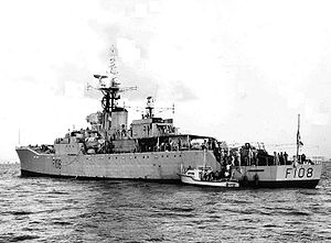 HMS Londonderry (F 108) off Miami 1964.jpg