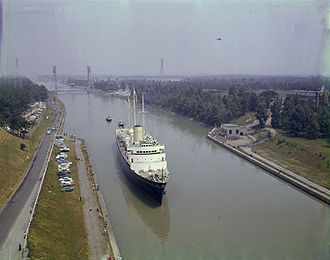 HMY Britannia - HMY Britannia on the Welland Canal en route to Chicago,1959.