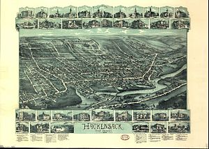 Hackensack, New Jersey - Hackensack, NJ 1896 map