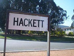 Hackett, Australian Capital Territory - Hackett sign