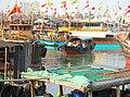 Haikou New Port - ship's tender with passengers 01.jpg