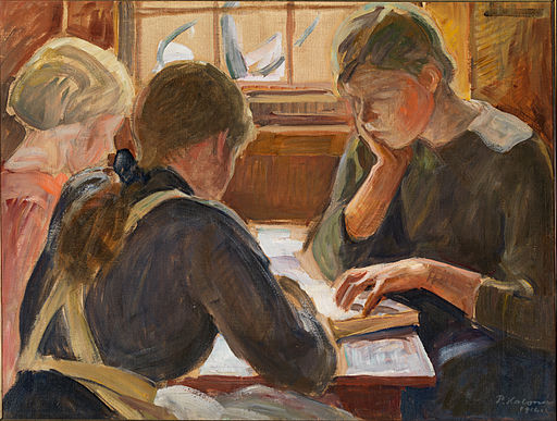 Halonen, Pekka - Children reading - Google Art Project