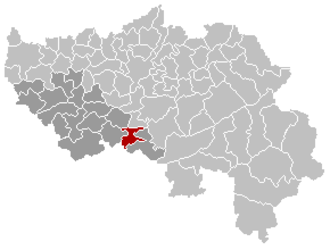 Hamoir - Image: Hamoir Liège Belgium Map