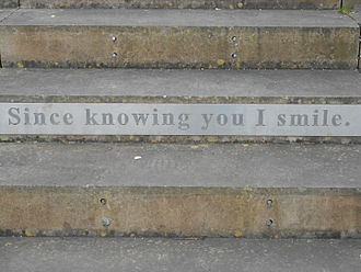 Hanley Park - Steps with words