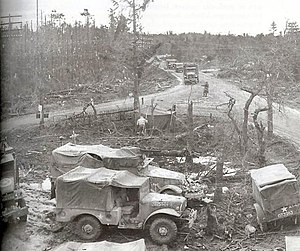 Battle of Heartbreak Crossroads - The crossroads at Wahlerscheid on February 13, 1945 after it was recaptured by the 9th ID.