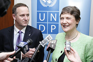 Human rights in New Zealand - John Key and Helen Clark at UNDP