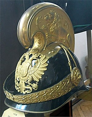 Imperial-Royal Landwehr - Officer's helmet, Imperial and Royal Dragoons