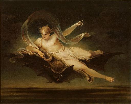 Henry Singleton - Ariel on a Bat's Back - Google Art Project