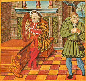 Psalter of Henry VIII - Henry and his jester Will Somers