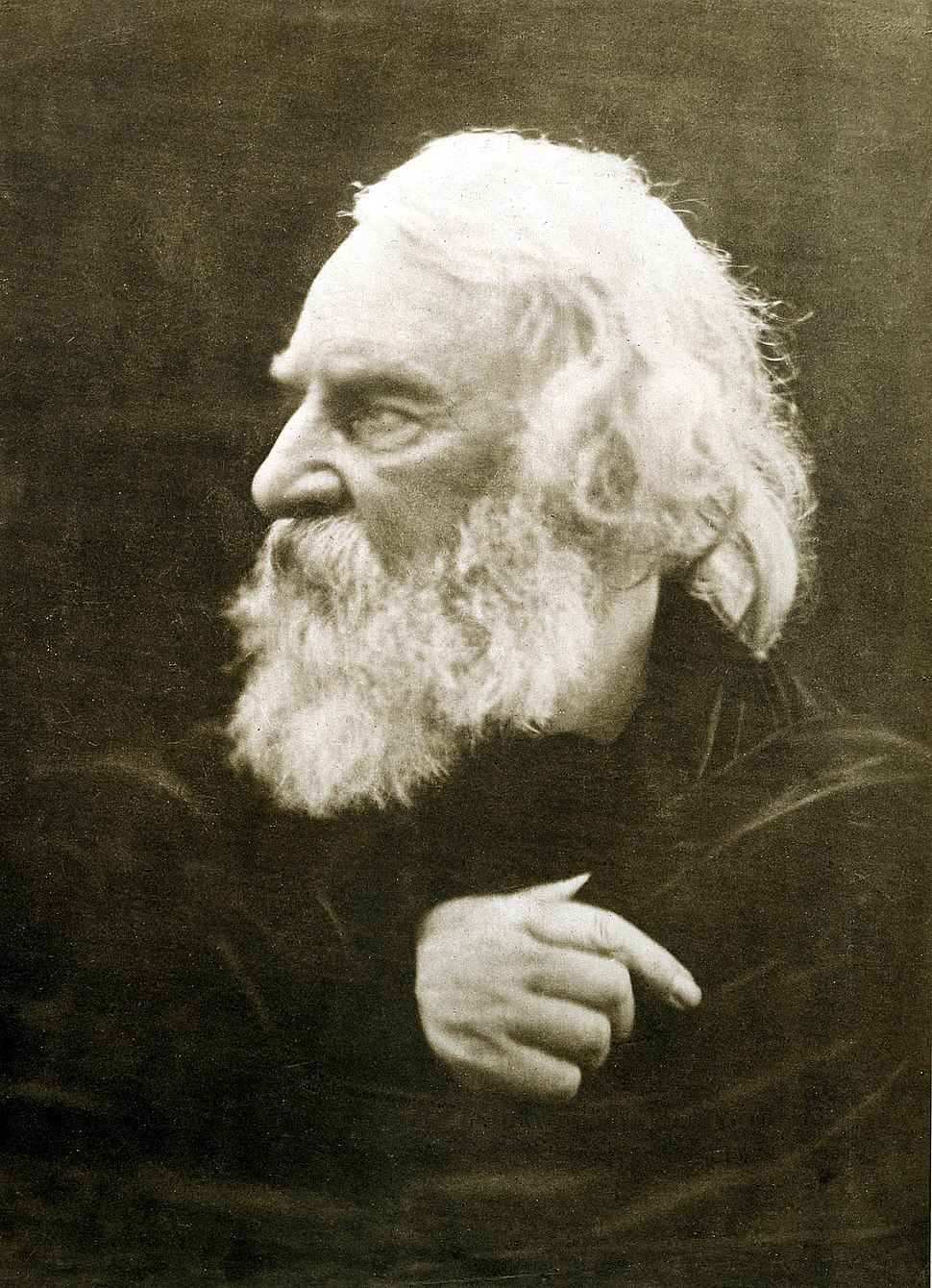 Henry Wadsworth Longfellow, photographed by Julia Margaret Cameron in 1868