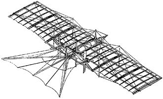 Aerial steam carriage - Patent drawing for the Henson Aerial Steam Carriage of 1843.