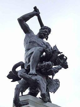 Herkulesbrunnen Augsburg Figur des Herkules