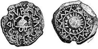 "Herod the Great - Copper coin of Herod, bearing the legend ""ΒΑΣΙΛΕΩΣ ΗΡΩΔΟΥ"" (""Basileōs Hērōdou"") on the obverse"
