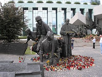 Warsaw Uprising Monument - Smaller section of the monument