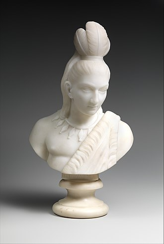 The Song of Hiawatha - Hiawatha, by Edmonia Lewis, marble, 1868, Metropolitan Museum of Art