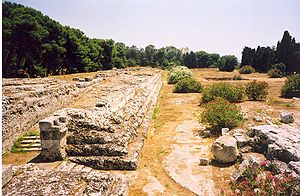Hiero II of Syracuse - Zeus' sacrificial altar built by Hiëro II in Syracuse