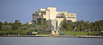 High Court of Australia - The High Court building, situated on the shore of Lake Burley Griffin