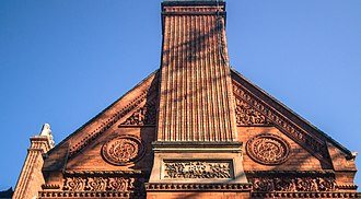 Highbury Hall - Detail of the terracotta decoration