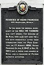 HiginoFranciscoResidence HistoricalMarker Manila.jpg