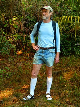 Hiking in Knee Socks, Sandals, and Cut-offs
