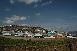 Jos Town in Plateau State, Nigeria