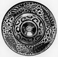 Hispano-Moresque - Ewer Basin with Large Leaves on Rim - Walters 481133.jpg