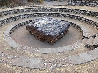 Hoba meteorite - The meteorite in 2014 after becoming a tourist attraction