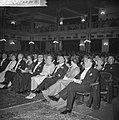 Hoge gasten in het publiek. vlnr. mevrouw Beerman , minister Beerman , mevrouw C, Bestanddeelnr 912-6035.jpg