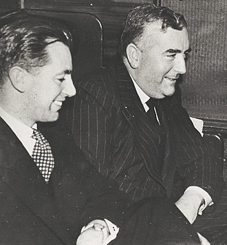 Harold Holt - Holt with Robert Menzies on 26 April 1939, the day he first became prime minister