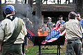 Honoring a symbol, Team Seymour holds flag retiring ceremony 140614-F-OB680-137.jpg