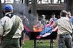 Honoring a symbol, Team Seymour holds flag retiring ceremony 140614-F-OB680-137.jpg