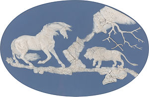 Jasperware - Image: Horse Frightened by a Lion by Josiah Wedgwood