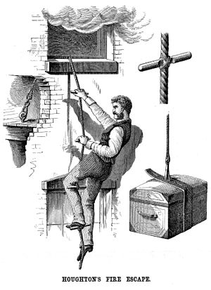 Fire escape - Houghton's portable fire escape 1877